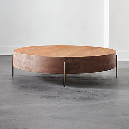 Proctor Low Round Wood Coffee Table Reviews Cb2