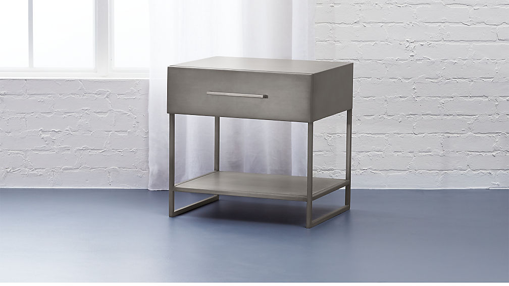proof metal nightstand + reviews | cb2 Metal Nightstand