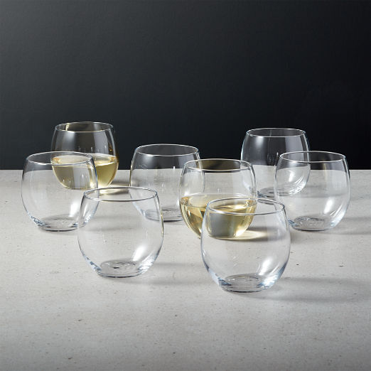 Prudence Stemless Wine Glasses Set of 8