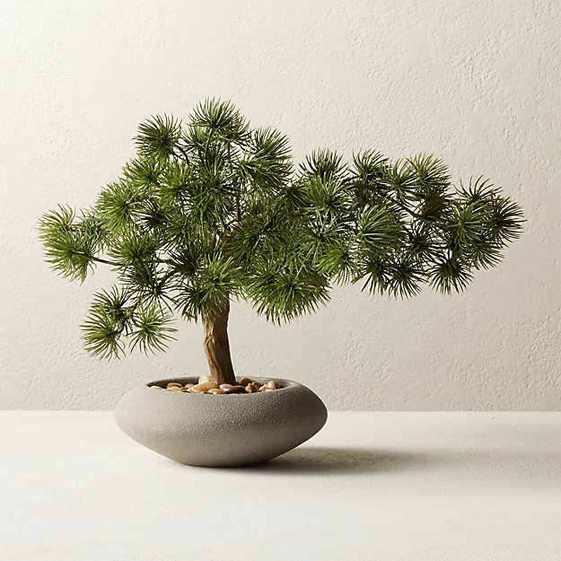 "Potted Faux Japanese Bonsai 10.5"" - Image 1 of 3"