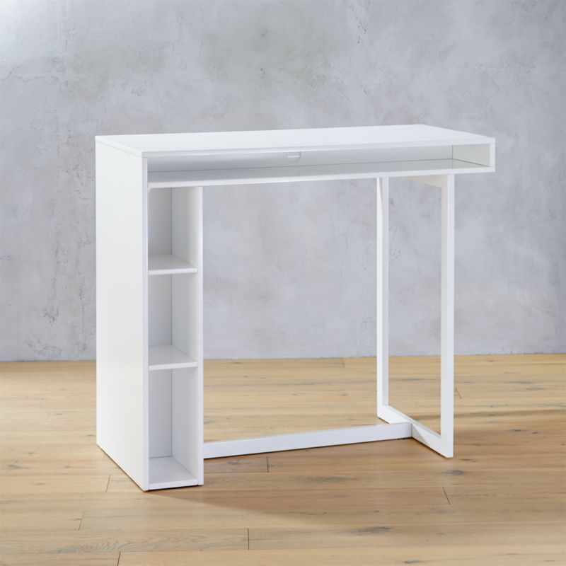 Public White 42 High Dining Table Reviews Cb2