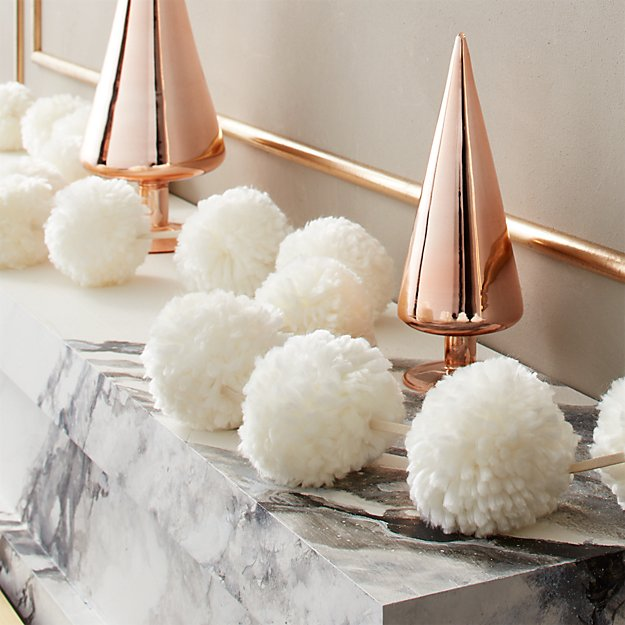 Puff White Pom Pom Garland - Image 1 of 5