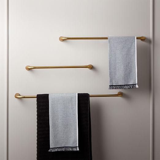 Pyra Brushed Brass Towel Bars