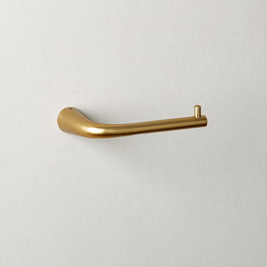 9115e18893688c Pyra Brushed Brass Toilet Paper Holder