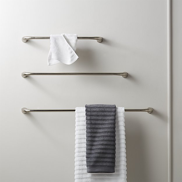 Pyra Brushed Nickel Towel Bars - Image 1 of 10