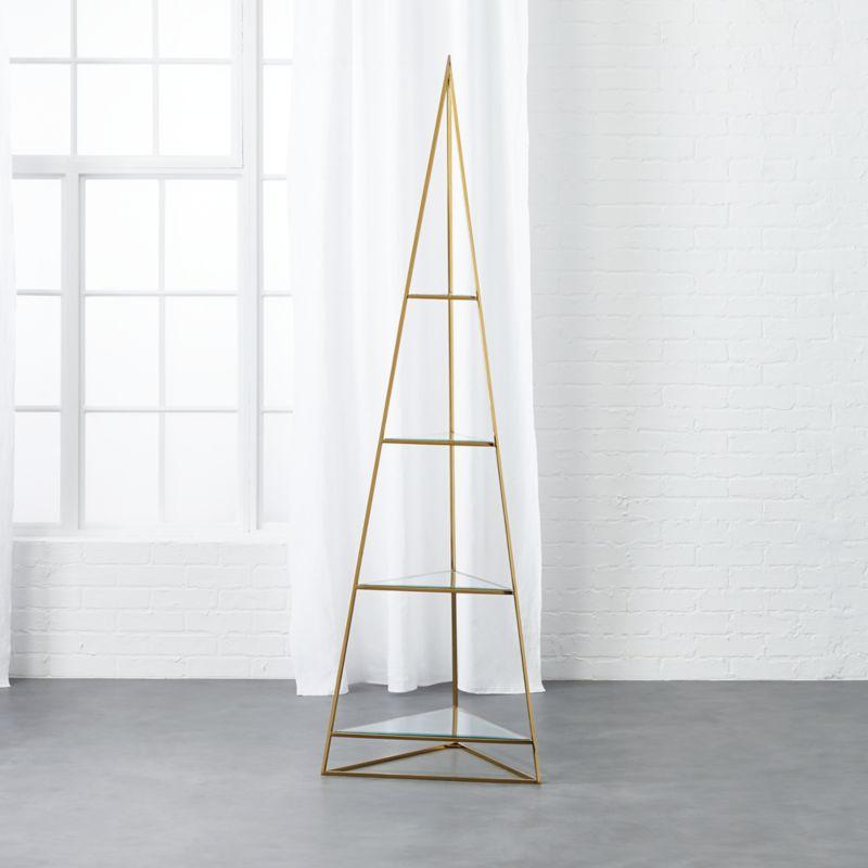 pyramid brass etegere + Reviews | CB2