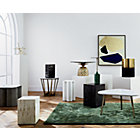 View product image Tri Brown Marble Side Table - image 2 of 8