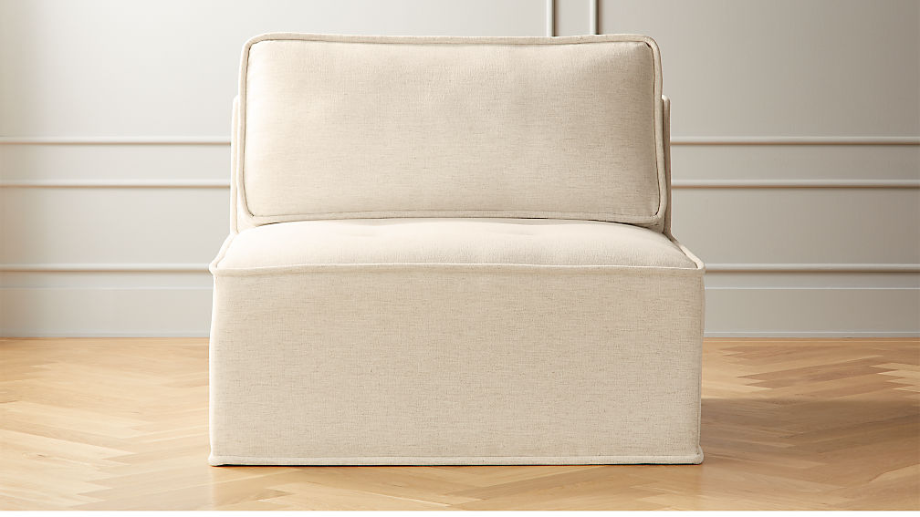 Quattro Snow Tufted Armless Chair - Image 1 of 6