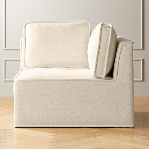 Quattro Snow Tufted Corner Chair