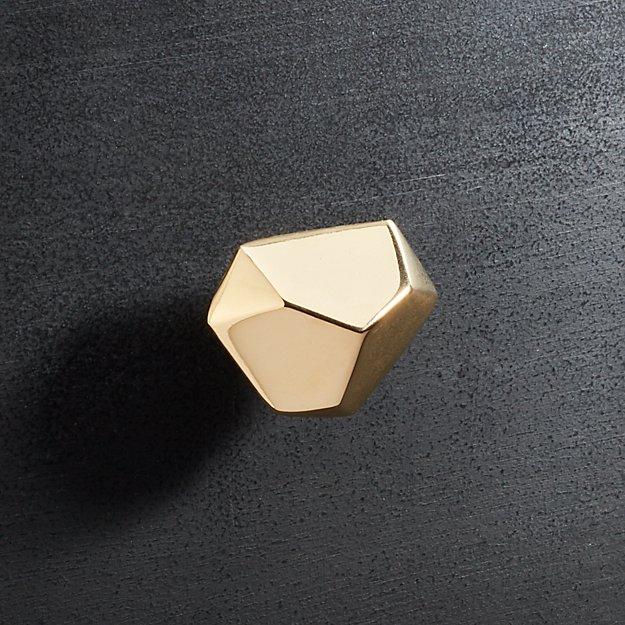 Quin Shiny Brass Knob - Image 1 of 3