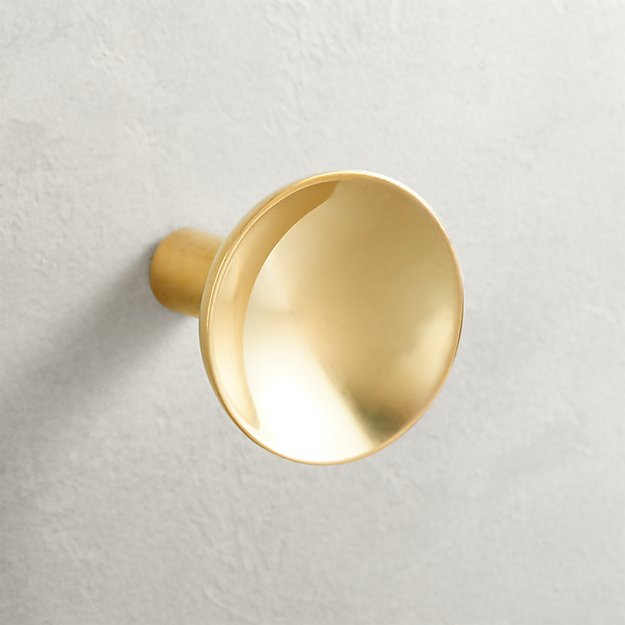 Quincy Brass Concave Knob - Image 1 of 3