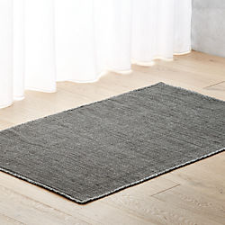 Quitting Time Graphite Grey Rug