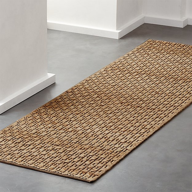 Rail Jute and Cotton Runner 2.5'x8' - Image 1 of 4