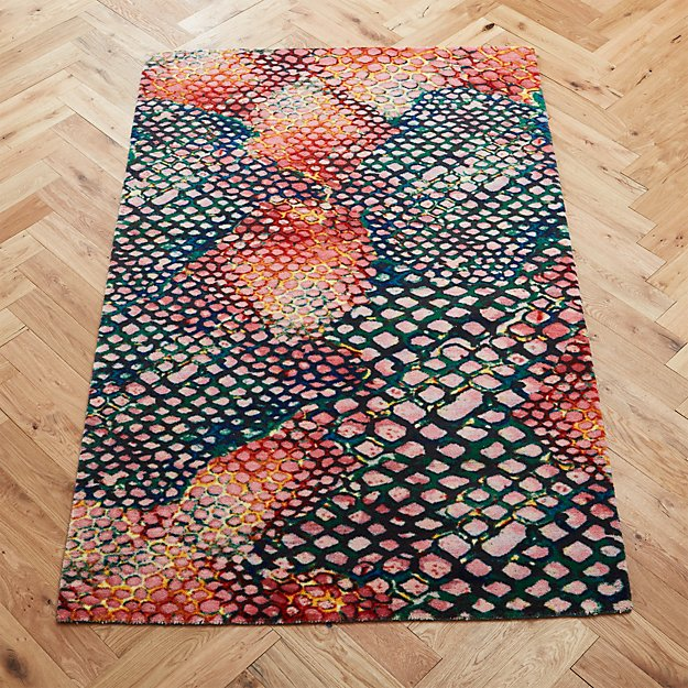 Rainbow Snakeskin Rug - Image 1 of 8