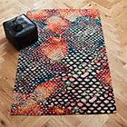 rainbow snakeskin rug