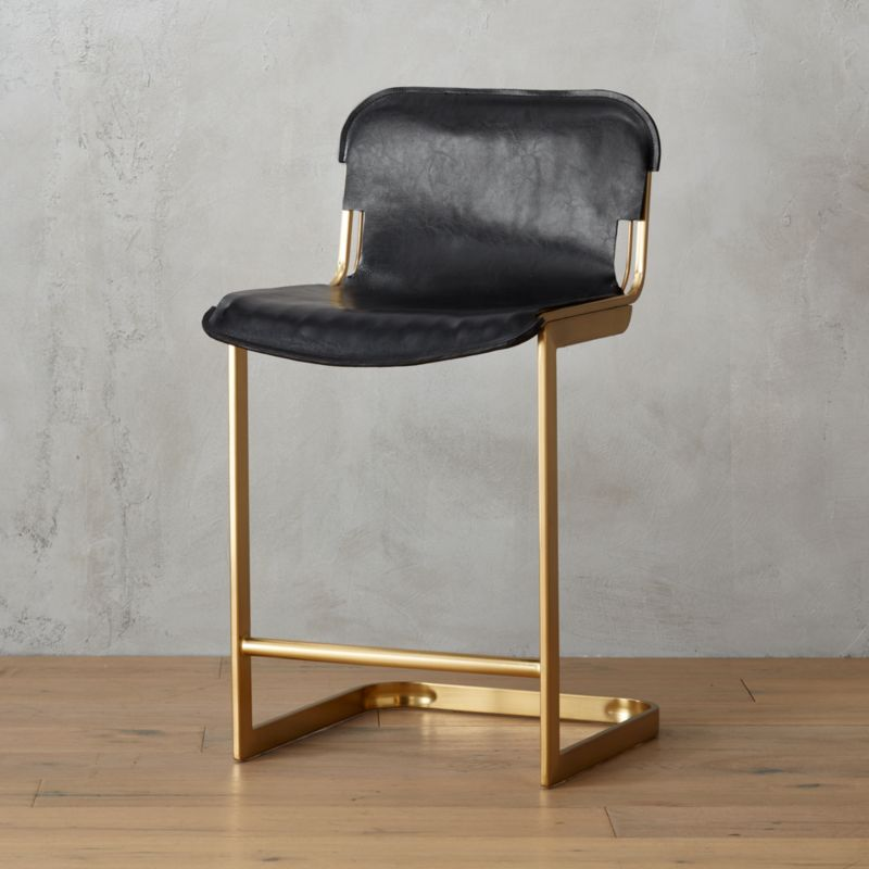 Modern Leather Bar Stools Cb2