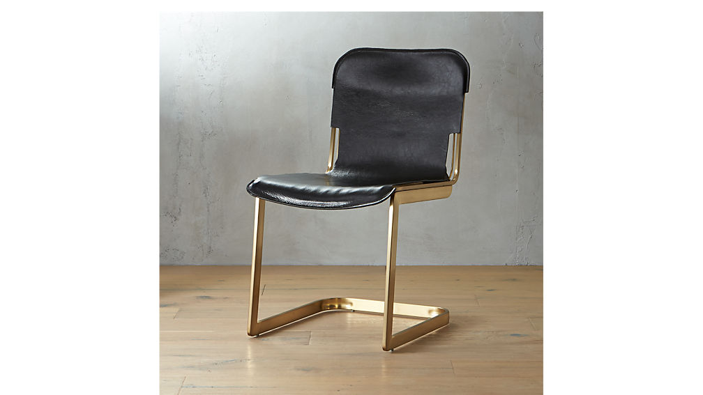 Merveilleux Rake Brass Chair + Reviews | CB2