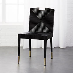 Rattan And Br Dining Chair