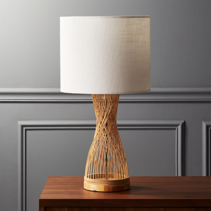 Rattan Table Lamp Reviews Cb2