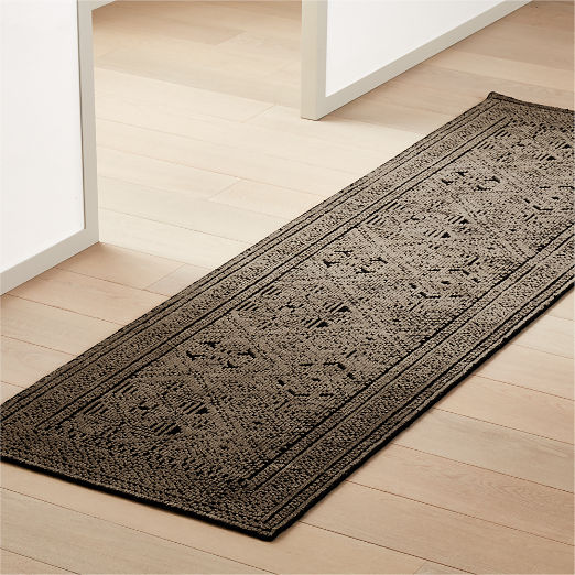 Raumont Hand-knotted Brown Detailed Runner 2.5'x8'