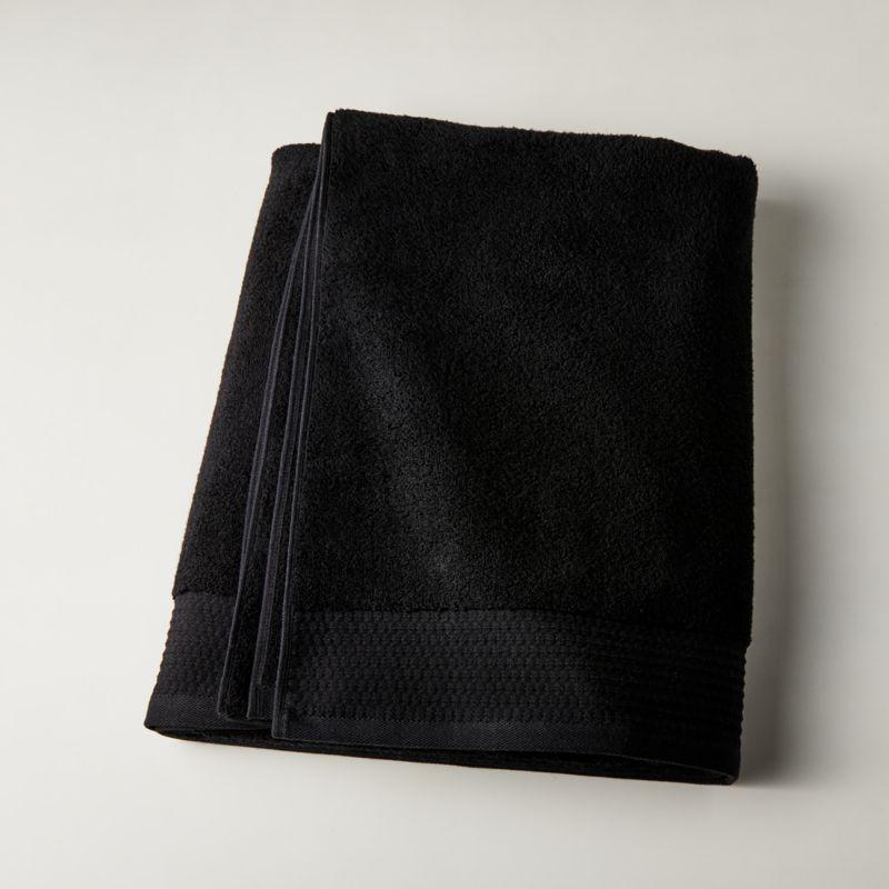 Shop Raven Black Bath Sheet from CB2 on Openhaus
