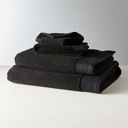 Raven Black Bath Towels