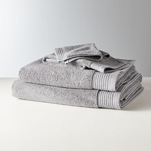 Raven Grey Bath Towels