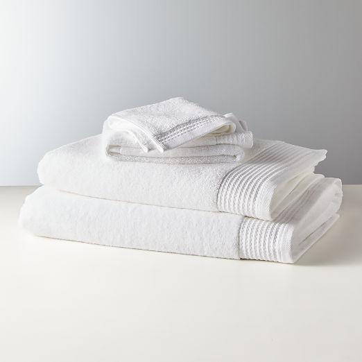 Raven White Bath Towels