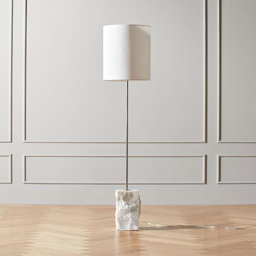 Raw Marble Floor Lamp