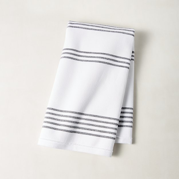 Did Fieldcrest Towels Go Out Of Business: Raya Black And White Striped Hand Towel + Reviews