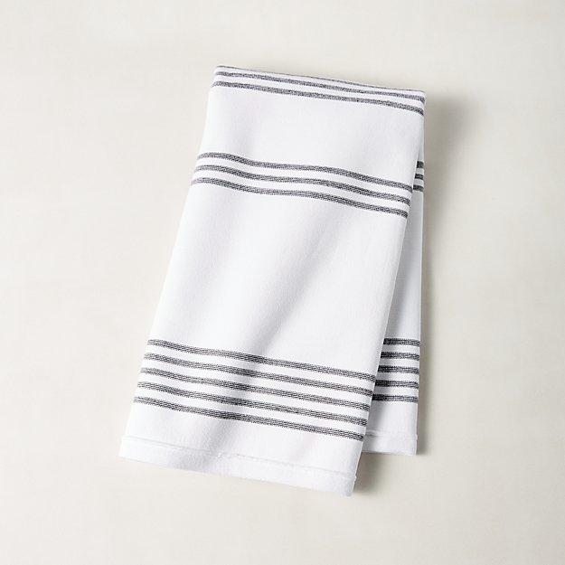 Raya Black And White Striped Hand Towel Reviews Cb2