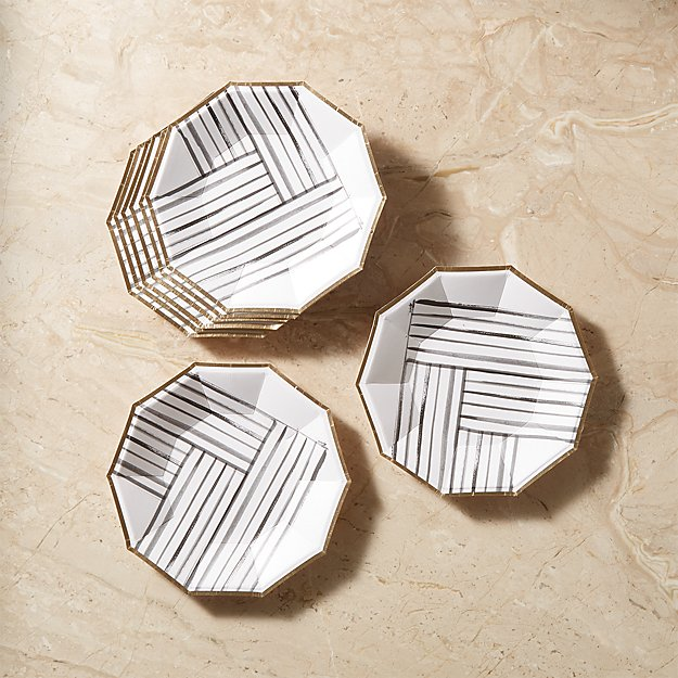 Rebelle Small Paper Plates Set of 8 - Image 1 of 6