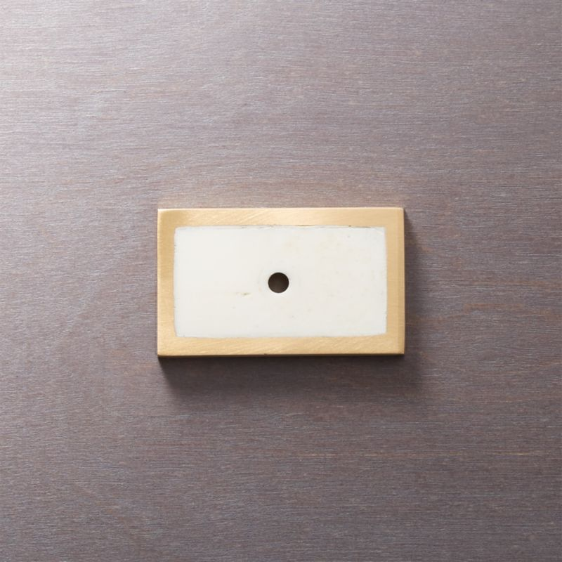 Rectangle Bone Inlay Knob Backplate