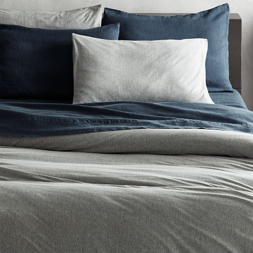 Recycled Jersey Grey Bedding