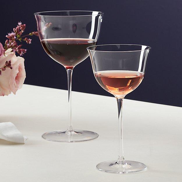 blanco and tinto wine glasses cb2