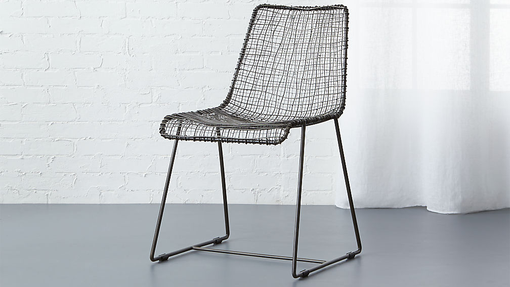 Merveilleux Reed Black Wire Chair + Reviews | CB2