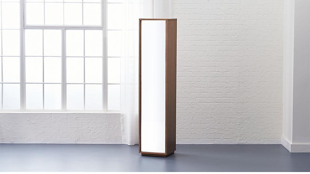 reflection mirrored narrow bathroom cabinet reviews cb2 - Narrow Bathroom Storage