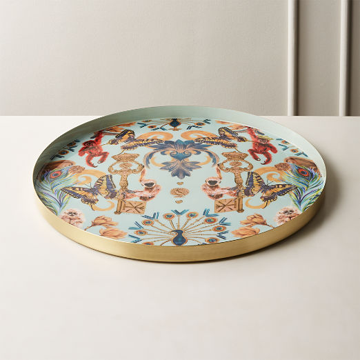 Regal Monkeys Enamel Serving Tray