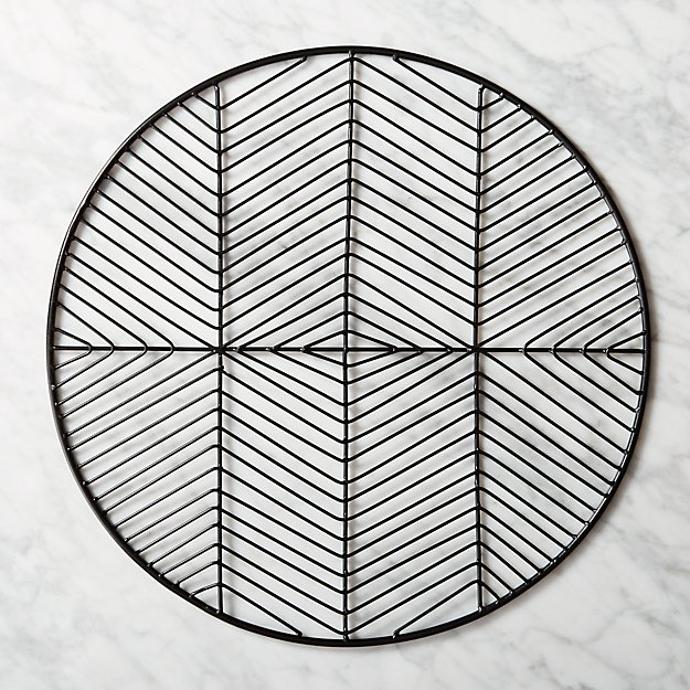 Register Black Metal Placemat - Image 1 of 7