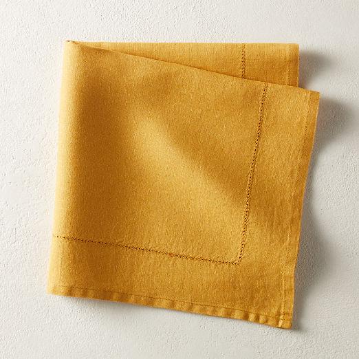 Relaxed Linen Mustard Napkin