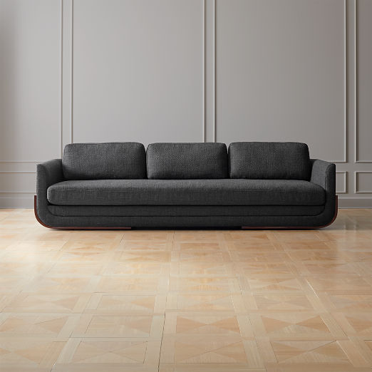 Remy Charcoal Grey Wood Base Sofa