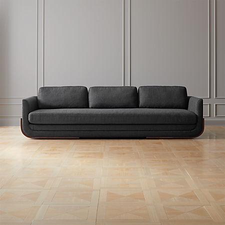 Miraculous Remy Charcoal Grey Wood Base Sofa Evergreenethics Interior Chair Design Evergreenethicsorg