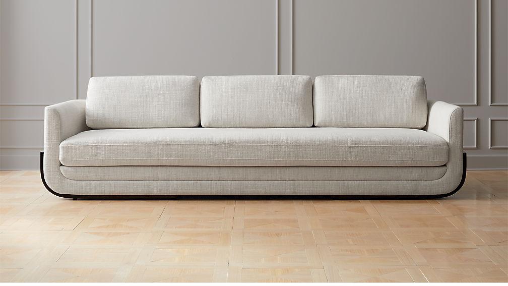 Remy White Wood Base Sofa Reviews Cb2