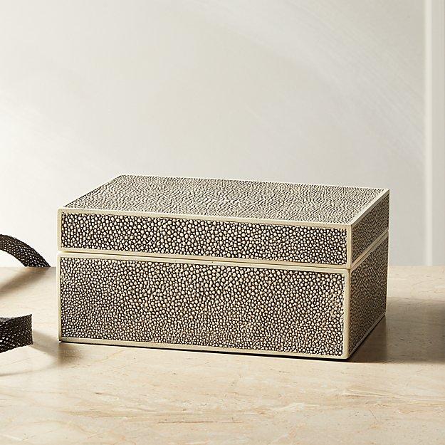 Resin Shagreen Jewelry Box - Image 1 of 7