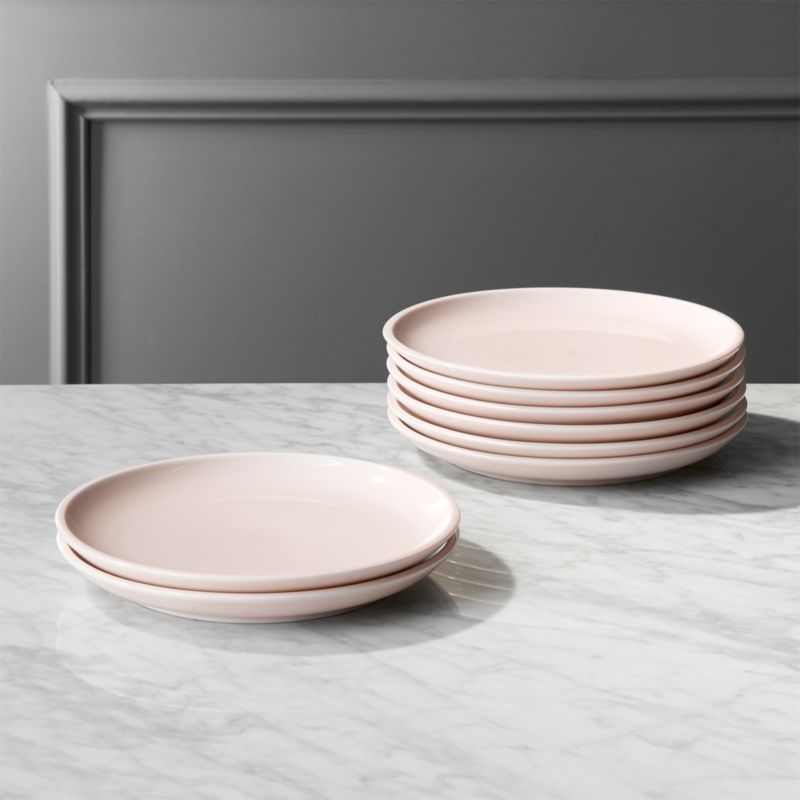 & Reveal Pink Dinner Plates Set of 8. + Reviews | CB2