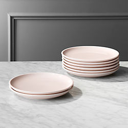 Reveal Pink Dinner Plates Set of 8. & Outdoor Dinnerware and Tableware - Acrylic Glasses | CB2