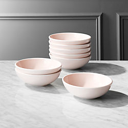 Reveal Pink Soup Bowls Set of 8 & Modern Dinnerware and Unique Dinnerware Sets | CB2