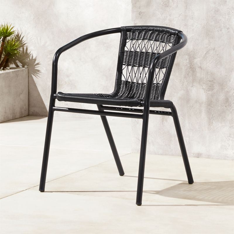 outdoor stacking chairs cb2