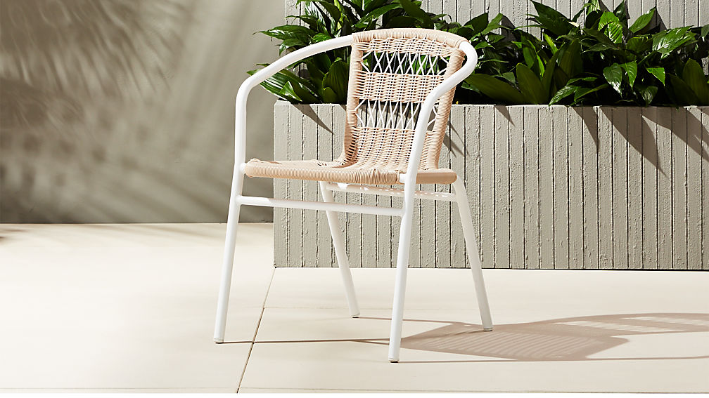 RexChairOpenWeaveSHS17_1x1 - Rex Woven Cafe Chair + Reviews CB2