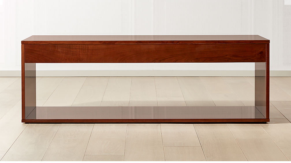 Reyes High-Gloss Olive Wood Coffee Table - Image 1 of 6